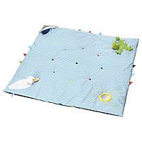 ЛЕКА Детский коврик, синий, 118x118 см, 00266245, ИКЕА, IKEA, LEKA
