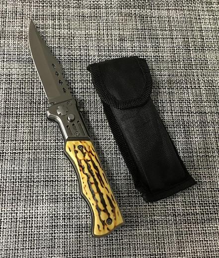 Ніж викидний з кістяною ручкою 21см / АК-30