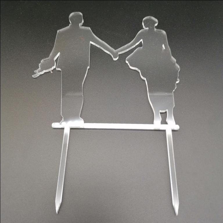 Акриловый топпер для свадебного торта, 13х14 см (арт. AK-TPR-002)