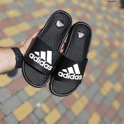 """Сланці Adidas масажні """"Чорні"""", фото 2"""