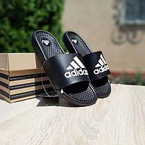 """Сланці Adidas масажні """"Чорні"""", фото 3"""