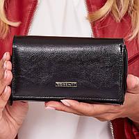 Женский кожаный кошелек черный LORENTI GF112-SL black