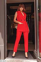 Модный деловой женский костюм на лето жилет и брюки  арт. 298