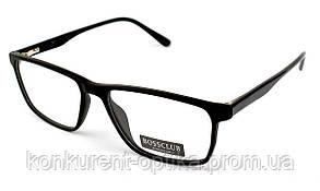 Мужские пластиковые брендовые очки в роговой оправе Bossclub 6118