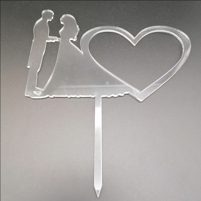 Акриловый топпер для свадебного торта, 12х17 см (арт. AK-TPR-007)
