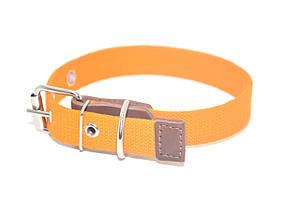 Ошейник для собак брезент оранжевый ОБ 2,5 см 33-44 см