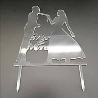 Акриловый топпер для свадебного торта, 15х14 см (арт. AK-TPR-008)