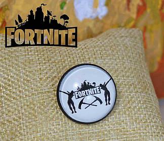 Значок Fortnite черно-белый