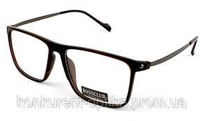 Мужские пластиковые очки в роговой оправе Bossclub 8817