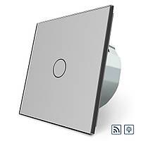 Сенсорный радиоуправляемый диммер Livolo серый стекло (VL-C701DR-15), фото 1