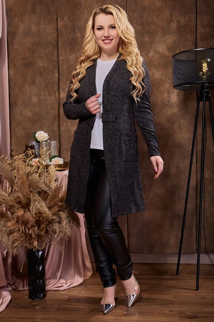Кардиган длинный женский черного цвета  от YuLiYa Chumachenko