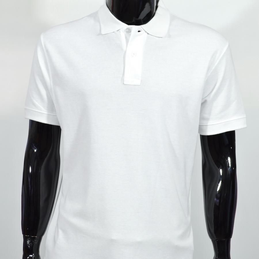 Футболка чоловіча Format Polo БІЛА 100% бавовна XL(Р)