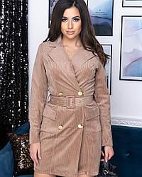 Платье-пиджак женский бежевого цвета от YuLiYa Chumachenko