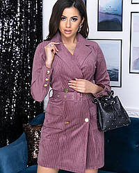 Платье-пиджак женский цвета лаванды от YuLiYa Chumachenko