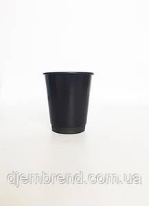 """Стакан бумажный Черный 250 мл. 25шт/уп (FiB 80/КВ79/""""РОМБ"""" 79)"""