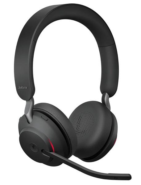 Профессиональная беспроводная Bluetooth гарнитура для офиса Jabra Evolve2 65 MS Stereo Black (USB Type-C)