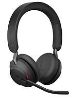 Профессиональная беспроводная Bluetooth гарнитура для офиса Jabra Evolve2 65 MS Stereo Black (USB Type-C), фото 1