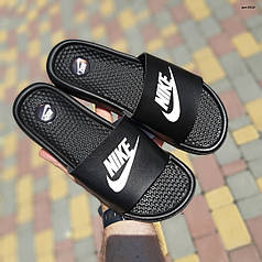 "Сланцы Nike массажные ""Черные"""
