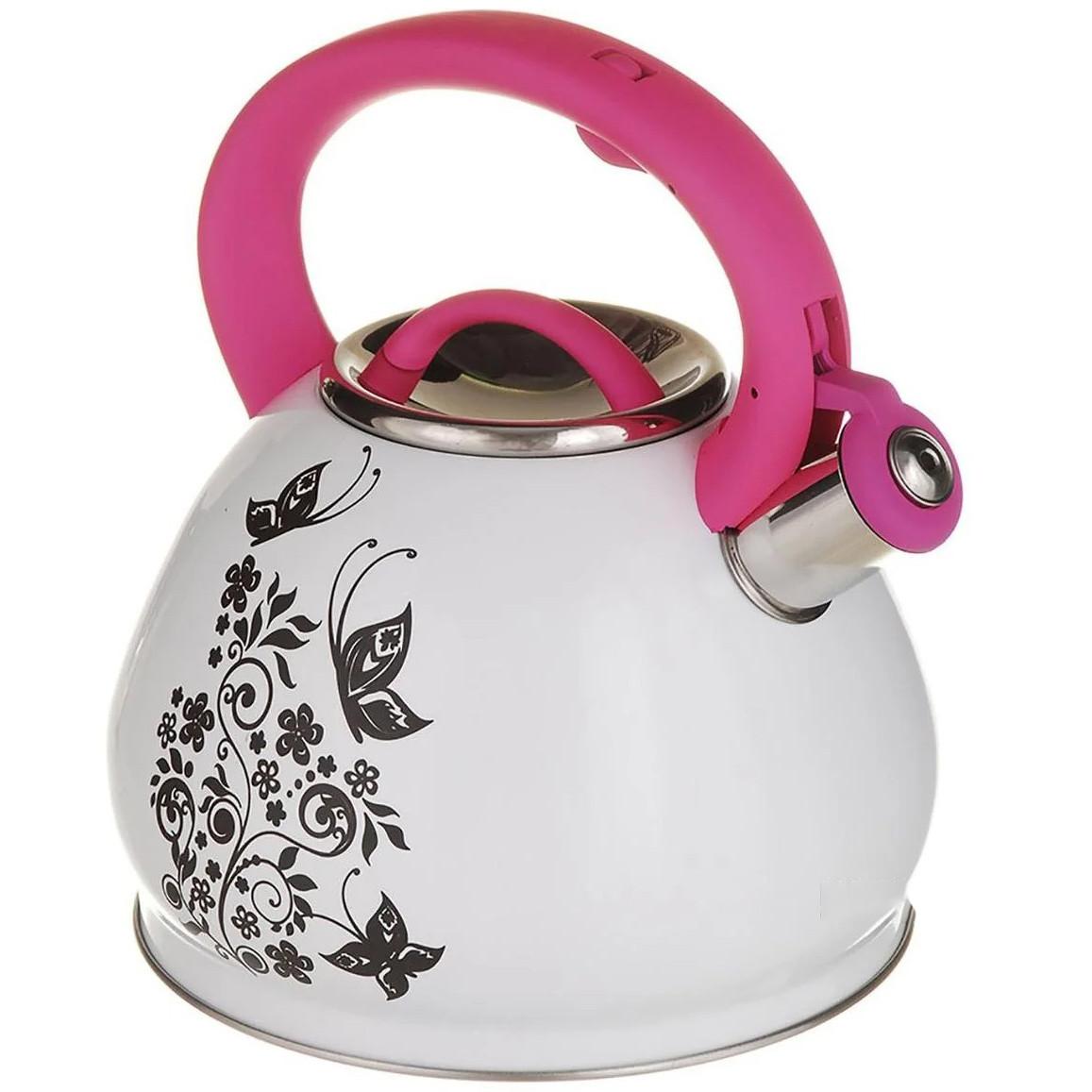 Чайник зі свистком для плити A-PLUS 3 л Термо-малюнок Метелики