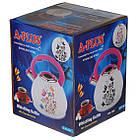 Чайник зі свистком для плити A-PLUS 3 л Термо-малюнок Метелики, фото 3