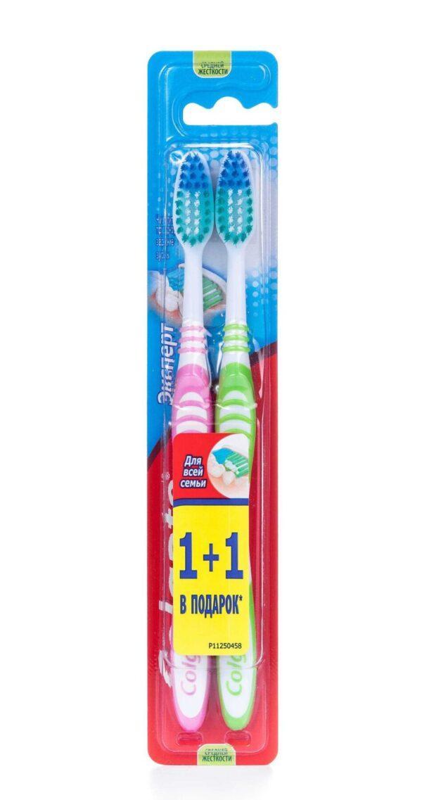 Набор зубных щеток Colgate 1+1 Эксперт чистоты средней жесткости