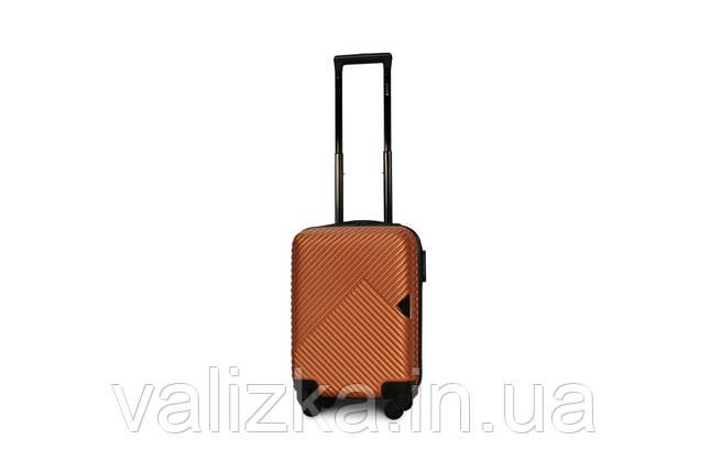 Пластиковый чемодан маленький для ручной клади оранжевый Fly 2702, фото 2