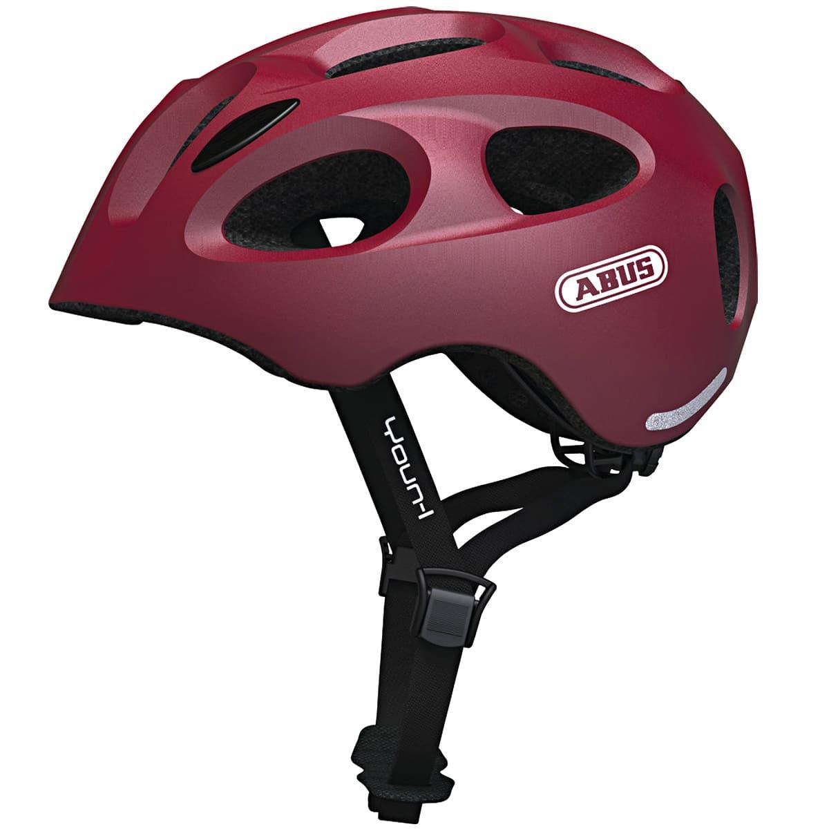 Велосипедный детский шлем ABUS YOUN-I S 48-54 Cherry Red Matt