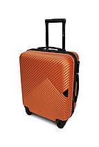 Пластиковый чемодан маленький для ручной клади оранжевый Fly 2702, фото 3