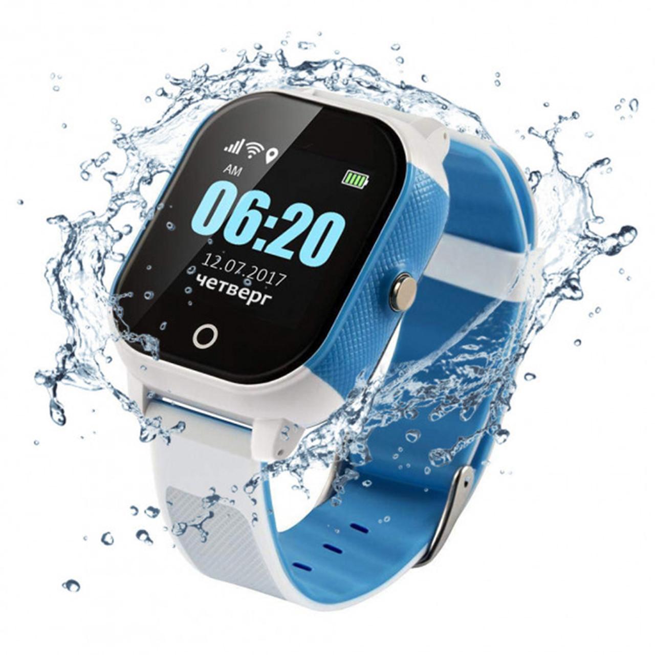 Оригинальные умные детские часы JETIX DF50 Ellipse OLED с Wi-FI и Защитой от воды IP67   (Blue)