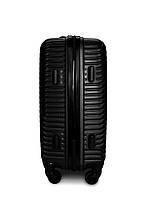 Пластиковый чемодан маленький черный ручная кладь S+ Fly 2702, фото 3