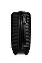 Пластиковый чемодан маленький черный ручная кладь S+ Fly 2702, фото 2