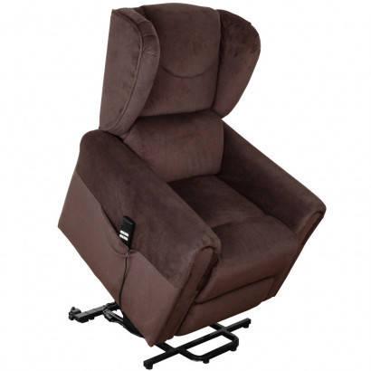 Підйомне крісло з двома моторами (коричневе) OSD-BERGERE AD05-1LD, фото 2
