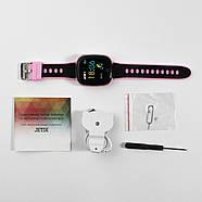 Детские умные часы JETIX DF50 Light Edition с GPS трекером и влагозащитой (Чёрно-розовые), фото 4