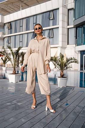 Летний люксовый костюм из льна, фото 2
