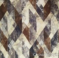 Мебельная ткань принт Смеш браун ( Производитель Мебтекс)