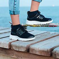 Темно-сині шкарпетки дитячі кросівки на шнурках літні сітка текстиль nike air presto дитячі літні кросівки, фото 3