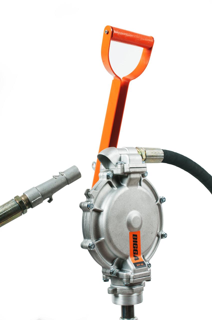 BIGGA DFP-60 Ручной двухдиафрагменный насос для перекачки дизельного топлива, бензина, керосина