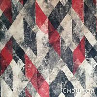Мебельная ткань принт Смеш ред ( Производитель Мебтекс)