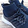 Темно-сині шкарпетки дитячі кросівки на шнурках літні сітка текстиль nike air presto дитячі літні кросівки, фото 5