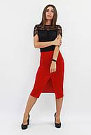 S, M, L, XL   Класична жіноча спідниця-олівець Hizer, червоний