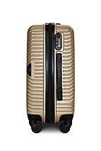 Пластиковый чемодан маленький шампань ручная кладь S+ Fly 2702, фото 2