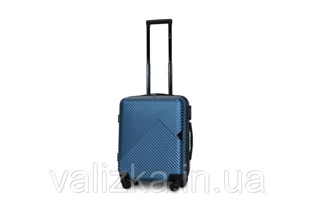 Пластиковый чемодан маленький синий ручная кладь S+ Fly 2702, фото 2