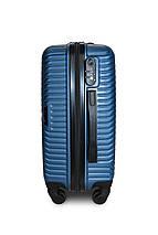Пластиковый чемодан маленький синий ручная кладь S+ Fly 2702, фото 3