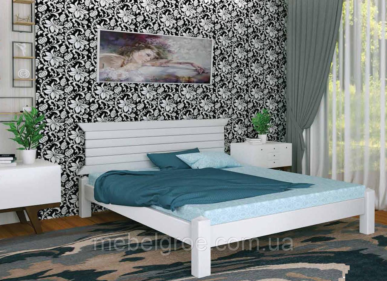 Деревянная двухспальная кровать 180 Гефест тм Мекано
