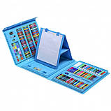 Набор для рисования с мольбертом в чемоданчике Art Set голубой (208 предметов) Синий, фото 7