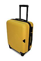 Пластиковый чемодан маленький желтый ручная кладь S+ Fly 2702, фото 3