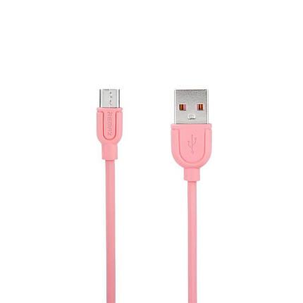 Кабель USB-MicroUSB Remax Souffle RC-031m 1m 5-079 Pink, фото 2