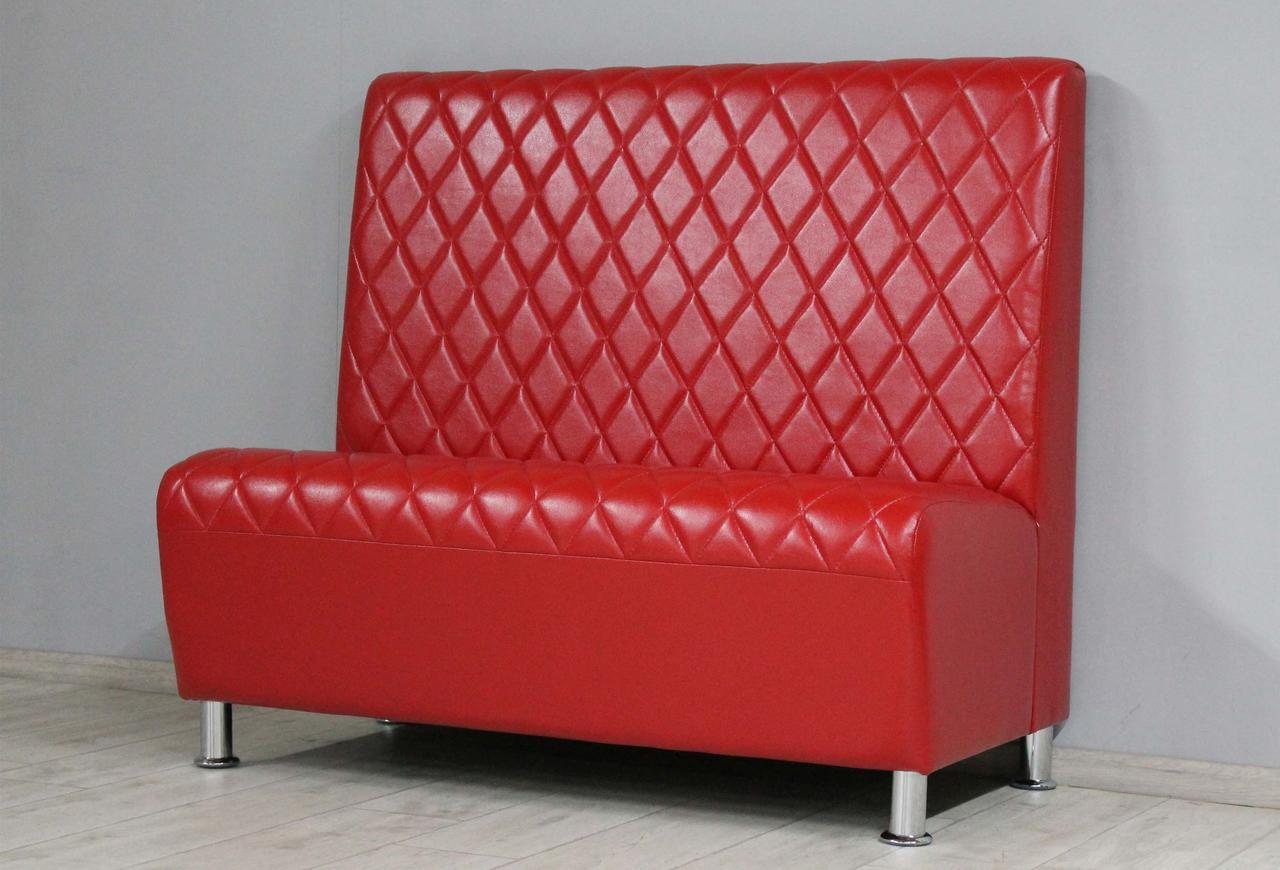 Диван для дома, кафе, ресторана или офиса SVL Милан, глянцевая красная экокожа 0402-03