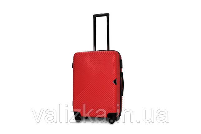 Средний пластиковый чемодан красный Fly 2702, фото 2