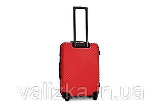 Середній пластиковий чемодан червоний Fly 2702, фото 2